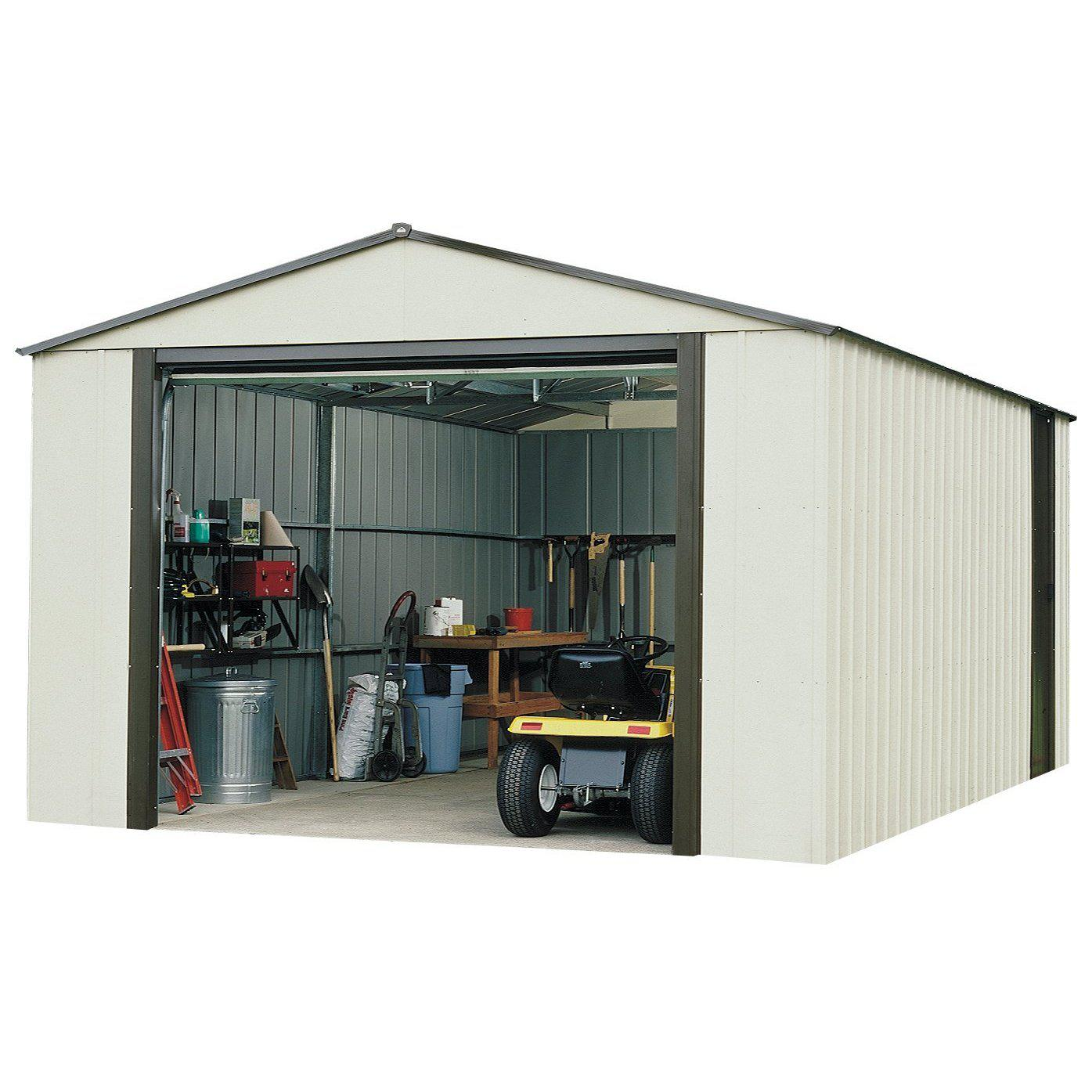 Arrow VT1224 Vinyl Coated Murryhill 12-Feet by 24-Feet Heavy Duty Steel Storage Shed