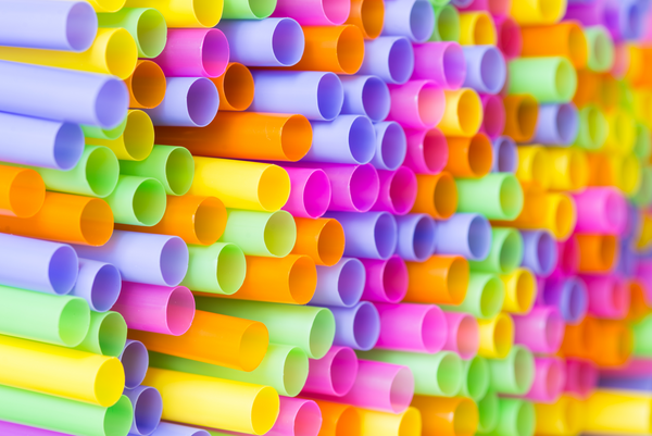 colorful pile of straws