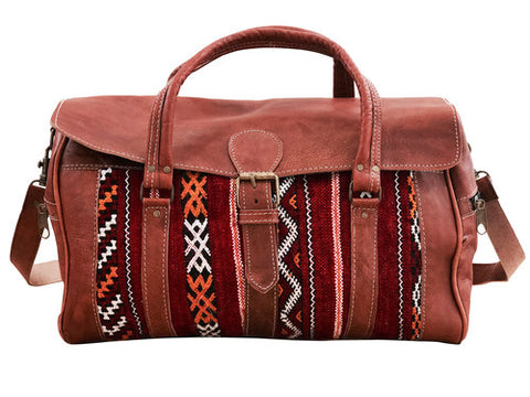 LIMITED EDITION Moroccan Leather Messenger Bag - Red