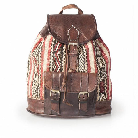 Premium Handmade Moroccan Leather Backpack - KADIN