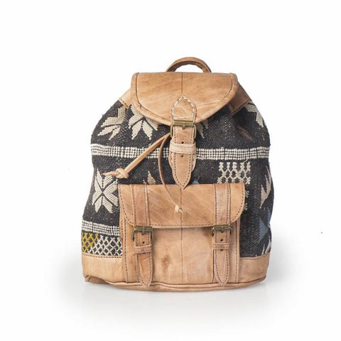 Premium Handmade Moroccan Leather Backpack - IDRISSA