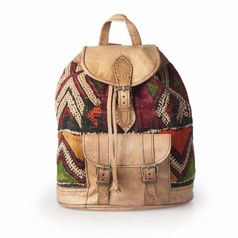Premium Handmade Moroccan Leather Backpack - SAEEDA