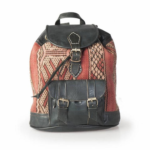 Premium Handmade Moroccan Leather Backpack - ARYN