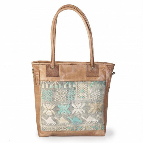 Premium Handmade Moroccan Leather Tote Bag - RABIA