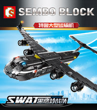Load image into Gallery viewer, Sembo Block  Black Hawk Transport Aircraft Swat Series | 102527