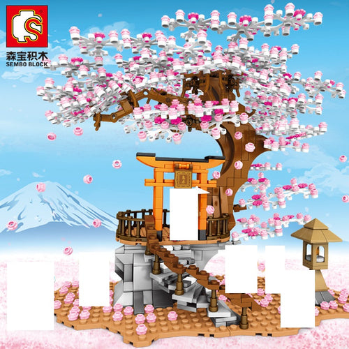 Sembo Block Cherry Tree - Cherry Blossoms Series | 601076