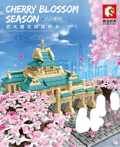 Sembo Block Cherry Wuhan University - Cherry Blossom Series | 601079