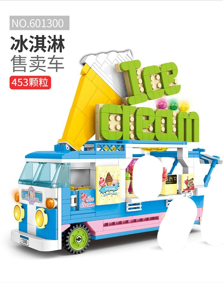 Sembo Block Ice Cream Truck | 601300