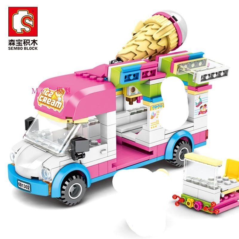 Sembo Block Ice Cream Cone Truck ( | 601302