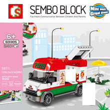 Load image into Gallery viewer, Sembo Block Pizza Food Truck | 601305