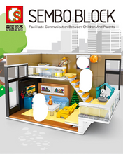 Load image into Gallery viewer, Sembo Block Home Apartment Interior | 601501