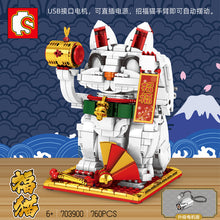 Load image into Gallery viewer, Sembo Block Lucky Cat | 703900-703901
