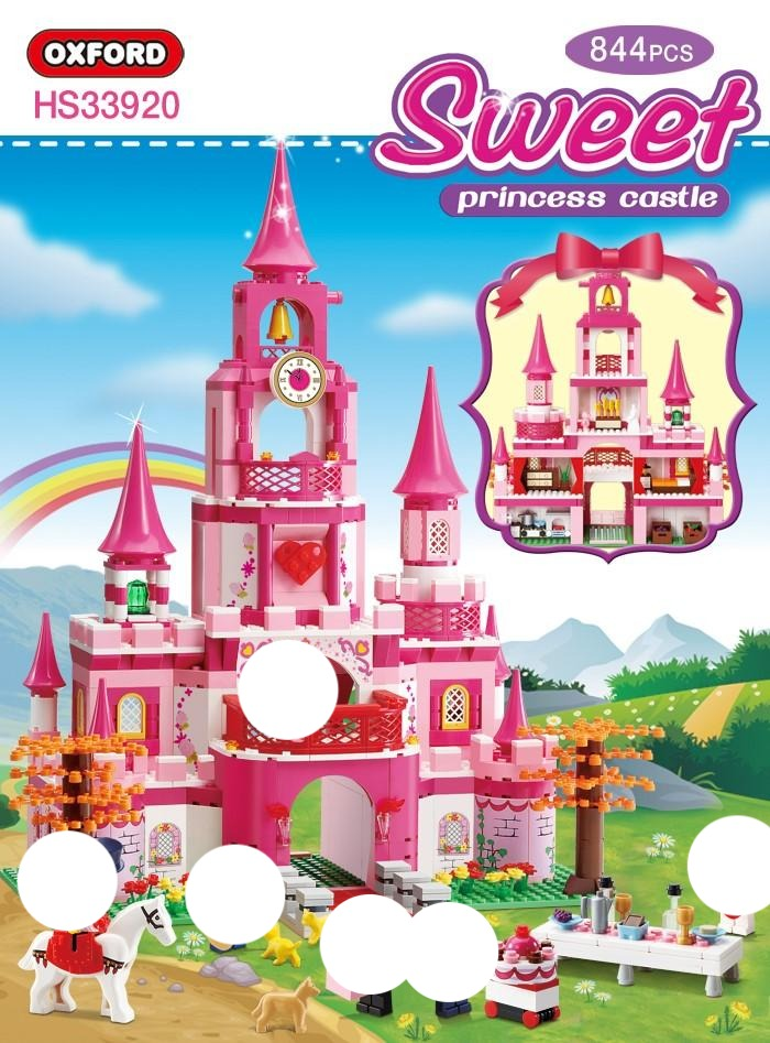 Oxford Block Sweet Princess Castle | HS33920