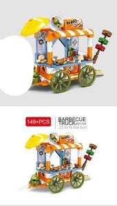 Sembo Block Various City Minifigs with Moving Stalls/Stores | 601101-601104