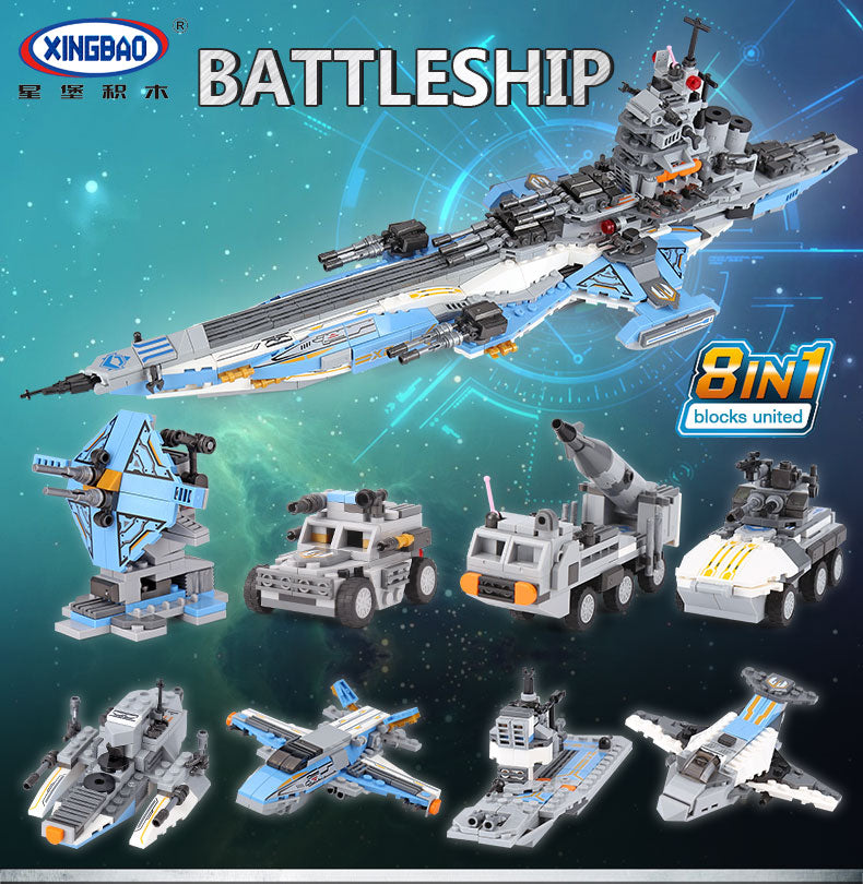 Xingbao The Universe Battleship 8 in 1 |XB13001