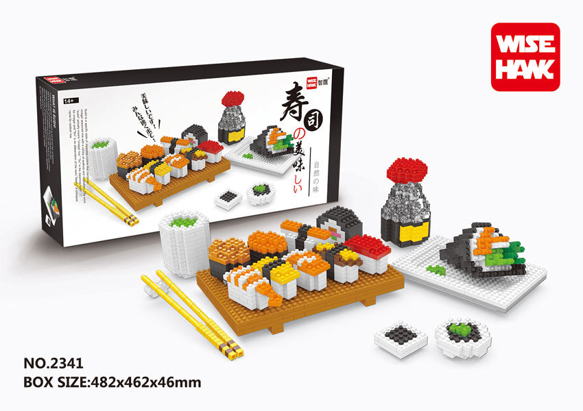 Wise Hawk Sushi Set Nanoblock | 2341