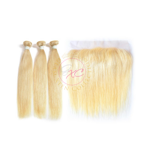 613 Blonde Straight + Frontal Deals - Glam Xten Collection
