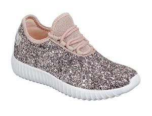 b9268e13e Rose Gold Girls Glitter Tennis Shoes – Tansy & Ro