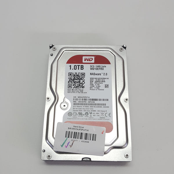 Western Digital Red 1TB Hard Drive SATA 3.5'' HDD WD10EFRX