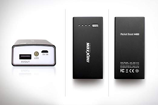 Nextek Energy Portable External Battery Power Bank PBLA4400 Black