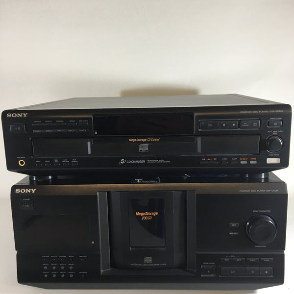 Sony CDP-CX235 and CDP-CE525 mega storage CD player systems