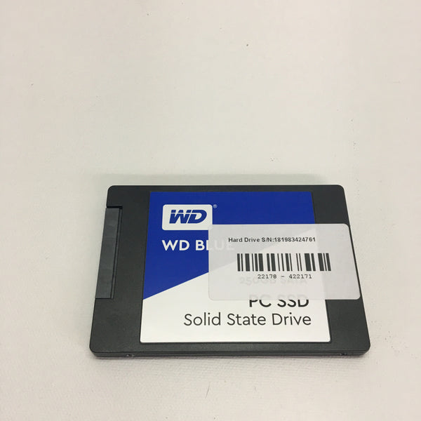 "Western Digital Blue 250GB SSD SATA 2.5"" Laptop WDBNCE2500PNC"