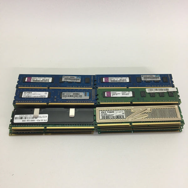 Mixed Lot 50 Pieces 2GB PC3-10600 Desktop RAM Samsung Hynix Crucial Micron Kingston
