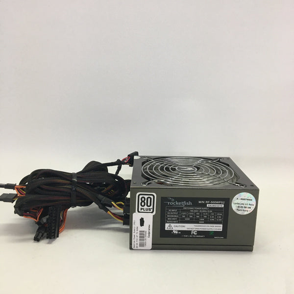Rocketfish RF-500WPS2 500 Watt Semi-Modular Power Supply.
