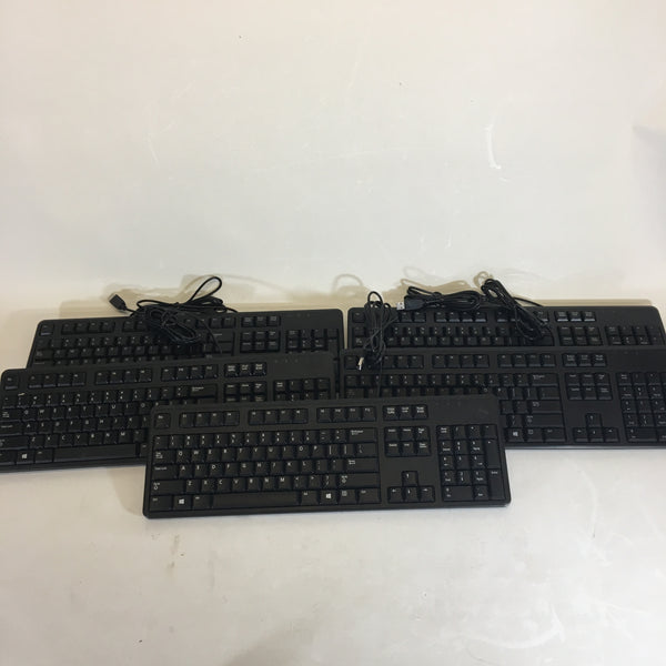 LOT OF 5 Dell USB Keyboards KB212-B