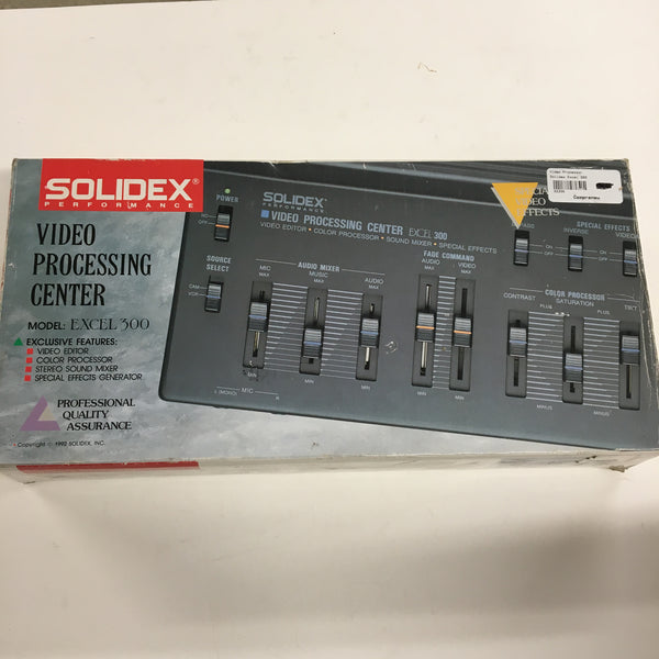Solidex Video Processing Center Excel 300 w/ Cords and Microphone