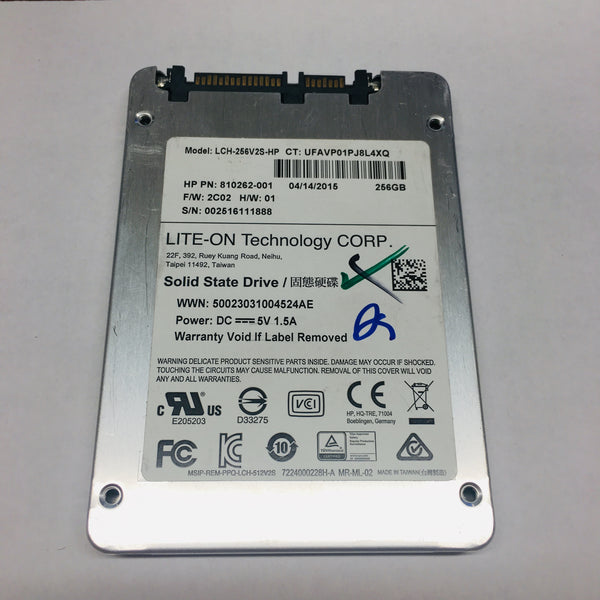 Dell LiteOn 256GB Laptop Solid State Drive SSD LCH-256V2S-HP SATA 6 Gb/S 2.5''