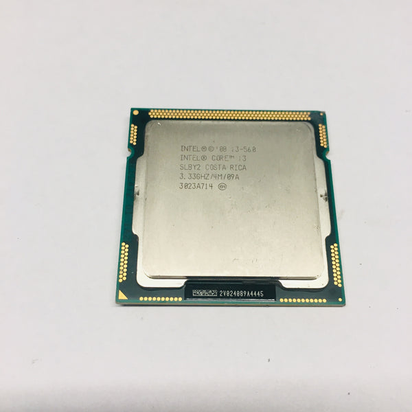 Intel Core i3-560M Processor SLBY2 4M Cache 3.33 GHz FC LGA 1156