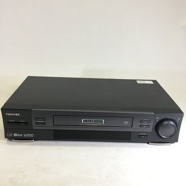 Toshiba W-714 VHS VCR/ RCA, Component, and Coax Outputs No Remote