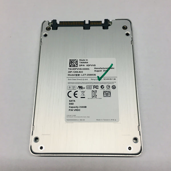 Dell LiteOn 256GB Laptop Solid State Drive SSD LCT-256M3S SATA 6 Gb/S 2.5''