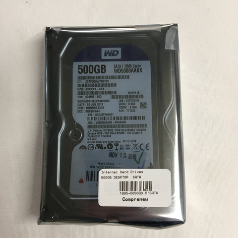 Western Digital Blue 500GB SATA 7200 RPM 3.5 Desktop Hard Drive (Lot Avalable)