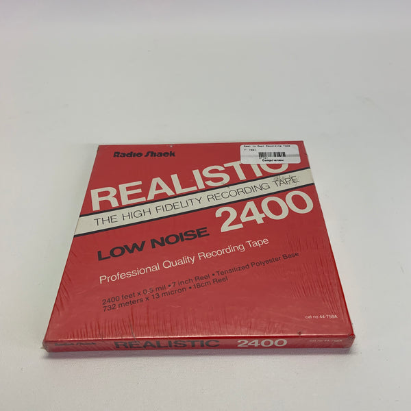 "Realistic Low Noise 2400 NOS New 7"" Reel to Reel Tape"