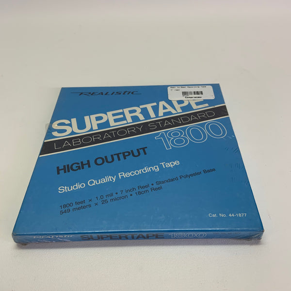 "Realistic Supertape 1800 NOS New 7"" Reel to Reel Tape"