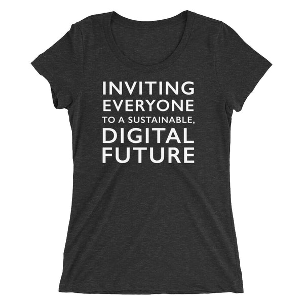 Comprenew Slogan: Women's Premium Tri-Blend T-Shirt (in Black)