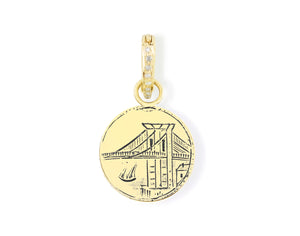 Brooklyn Bridge with Sailboat Reimagined Pendant