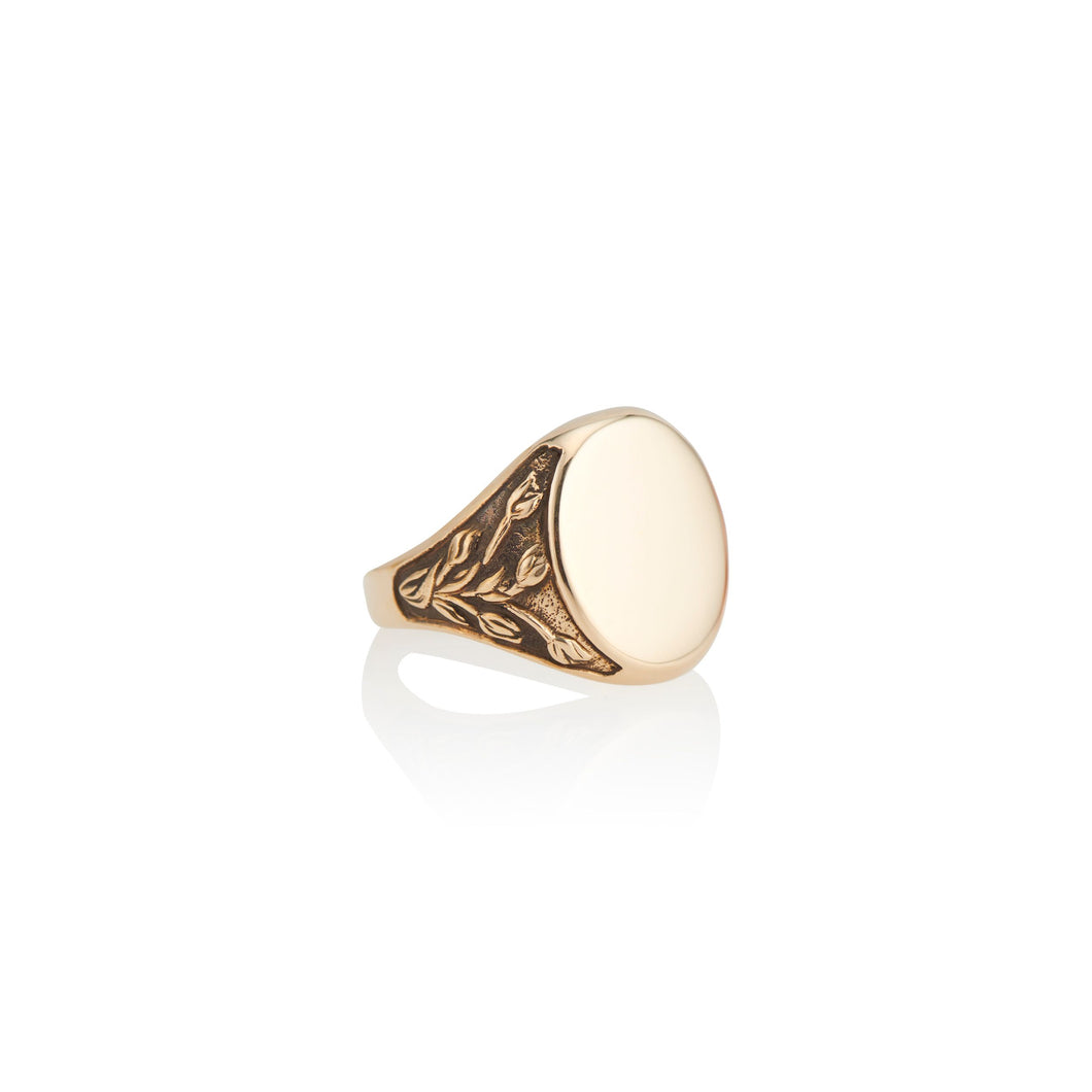 Tulip Engraveable Signet Ring