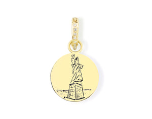 Statue of Liberty 1 Reimagined Pendant