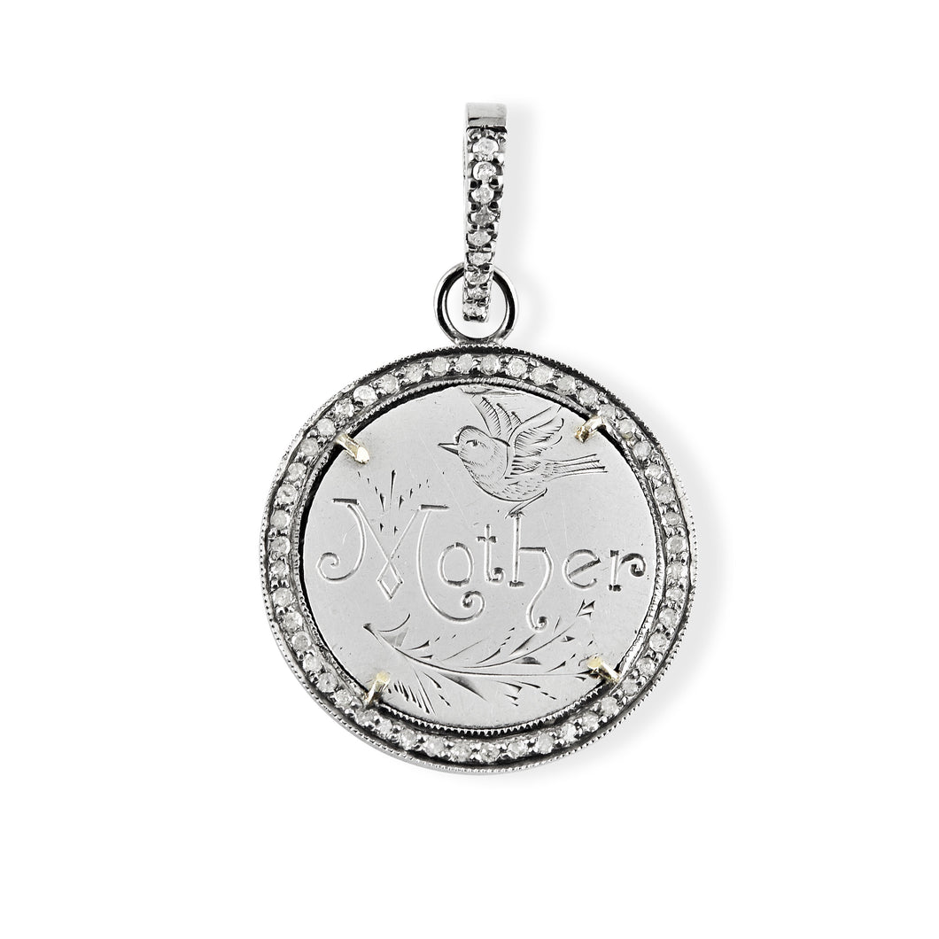 Mother Love Token in Pave Halo