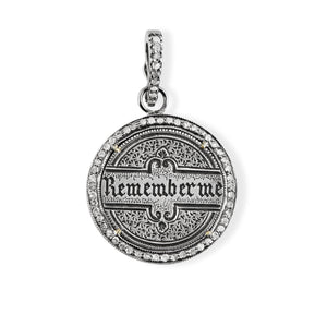 """Remember Me"" Love Token with Pave Diamond Halo"