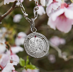 Cupid  Muse Love Token in Pave Diamond Halo