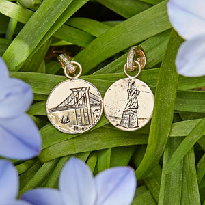 14k YG Statue of Liberty Reimagined  Love Token