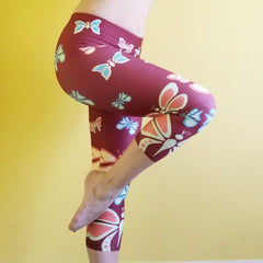 Butterflylove Red Capris Super soft and comfortable. Butterflies all over a beautiful red canvas.  - 82% polyester/18% spandex  - The material has a four-way stretch. Perfect for your curves  - Made with a smooth, comfortable microfiber yarn by RedButterfly by Omaris