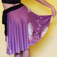 Goddess Purple Wrap Skirt