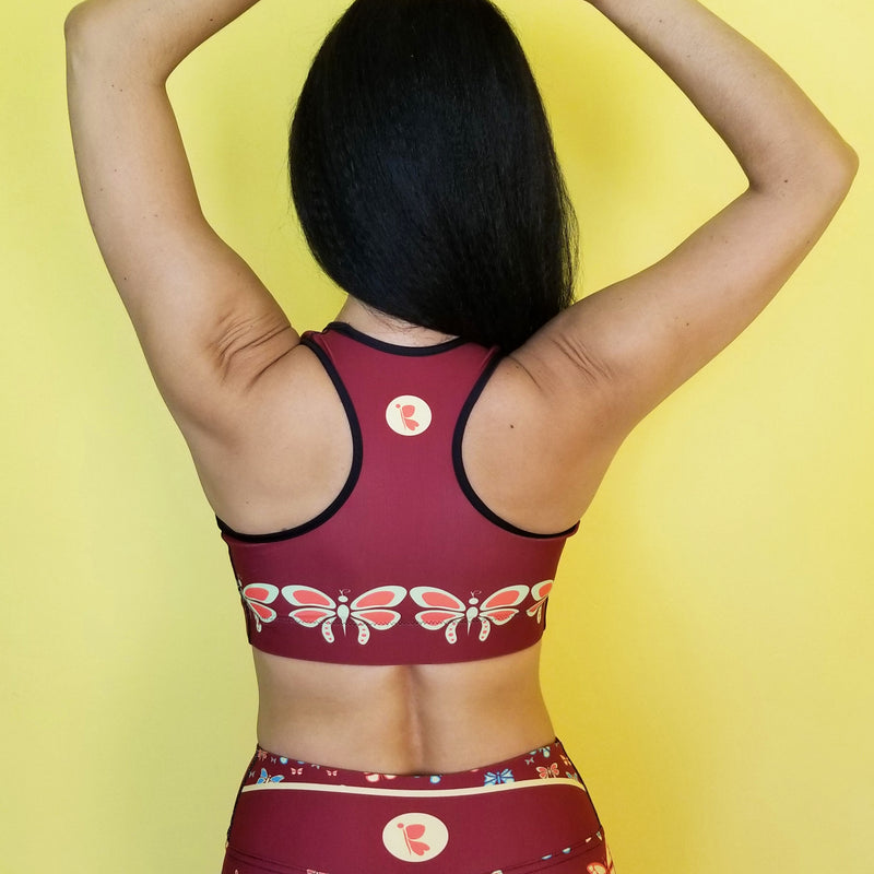 Butterflylove Red Sports bra