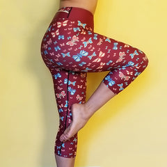 Butterflylove Tinylove Red Capris High Waisted