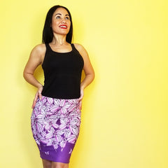 Goddess Purple Pencil Skirt